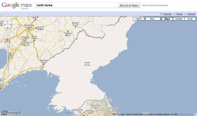 Google Maps Corea del Norte