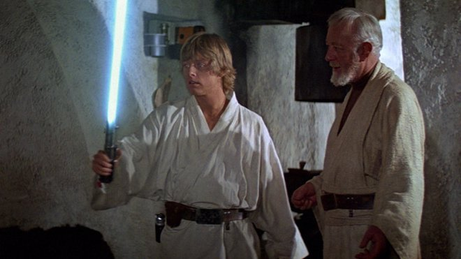 Luke Skywalker y Obi Wan Kenobi de Star Wars