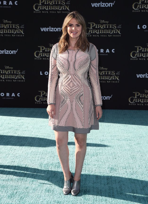 Carly Steel en la premiere de Piratas del Caribe La Venganza de Salazar en California. Getty Images