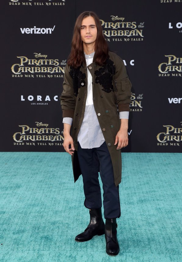 El actor Anthony de la Torre en la premiere de Piratas del Caribe La Venganza de Salazar en California. Getty Images