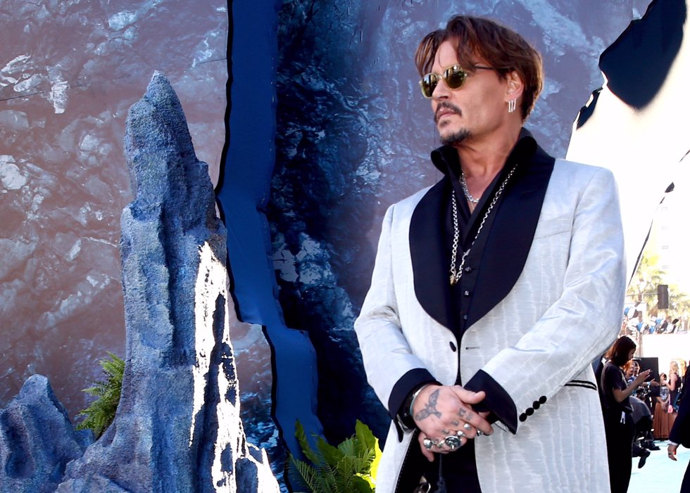 El actor Johnny Depp en la premiere de Piratas del Caribe La Venganza de Salazar en California. Getty Images
