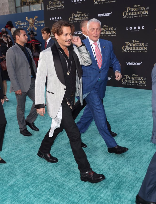 Johnny Depp en la premiere de Piratas del Caribe La Venganza de Salazar en California. Getty Images