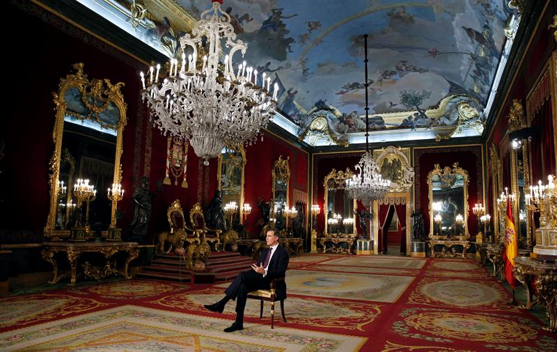 Rey Felipe VI, discurso de Navidad, Nochebuena 2015, Palacio Real