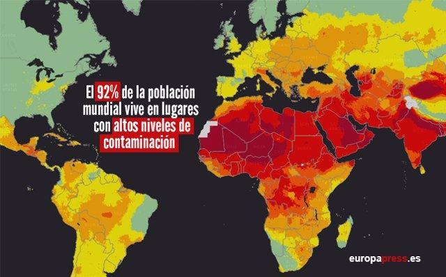 Lugares más contaminados del mundo, de acuerdo a la OMS