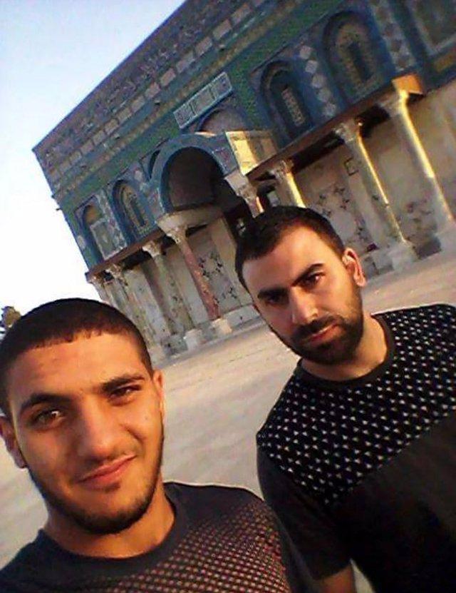 Los dos terroristas en la Explanada de las Mezquitas