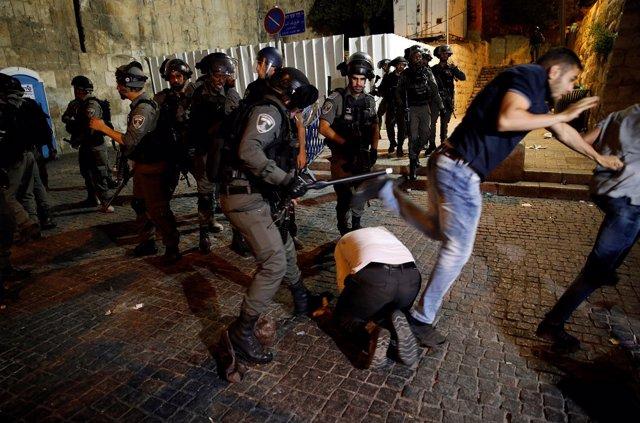 Agentes de la Policía de fronteras israelí.