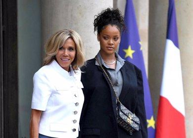El gran encuentro entre la primera dama de Francia, Brigitte Macron,  y Rihanna