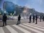Miles de taxistas se manifiestan de nuevo en Madrid para reclamar a Fomento que acabe con el