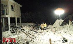 Investiguen si noves restes biològiques a Alcanar pertanyen a un segon cadàver (BOMBERS DE LA GENERALITAT)