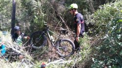 Rescaten dos ciclistes deshidratats després de perdre's durant quatre hores en un barranc a València (CONSORCIO PROVINCIAL DE BOMBEROS DE VALENCIA)