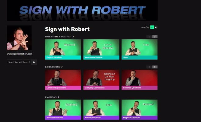 Sign with Robert