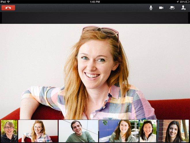 Hangout en iPad en Google+