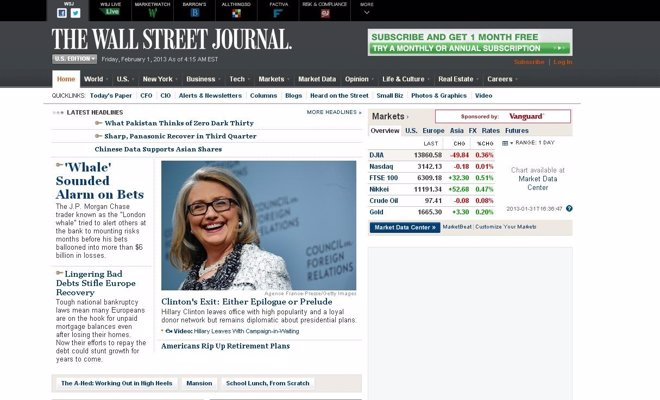 Web The Wall street Journal