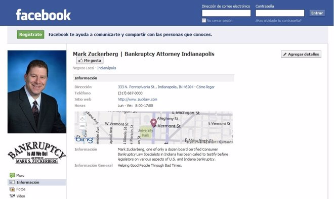 Abogado Mark S. Zuckerberg En Facebook