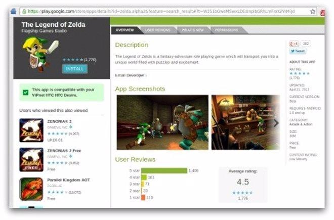 Aplicación The Legend Of Zelda Por Naked Security